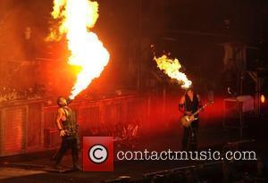 Rammstein  perform live in concert as part of the annual 'Big Day Out' music festival Sydney, Australia - 26.01.11