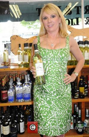 Ramona Singer signs bottles of her signature wine Pinot Grigio in Southampton New York City, USA - 18.06.11