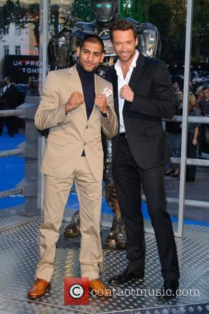 Amir Khan and Hugh Jackman Real Steel - UK film premiere held at the Empire Leicester Square - Arrivals. London,...