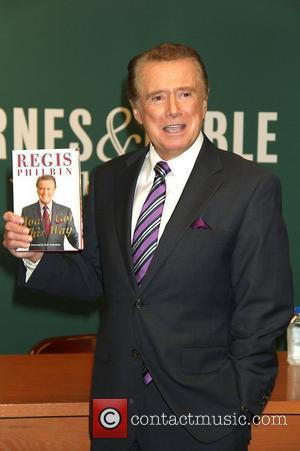 Regis Philbin signs his new book 'How I Got This Way' at the Fifth Avenue Barnes & Noble in New...
