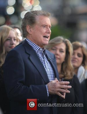 Regis Philbin filming an appearance on the entertainment news show 'Extra' at The Grove Los Angeles, California - 25.11.11