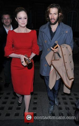 Andrea Riseborough and Joe Appel Resistance - UK film premiere held at the Curzon Mayfair - Arrivals. London, England -...