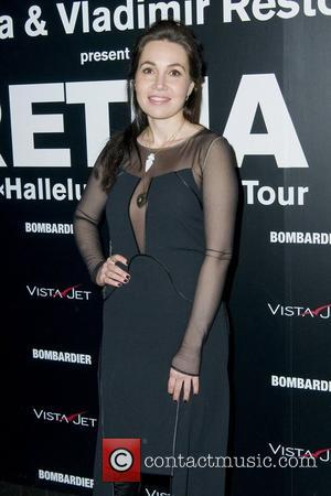 Fabiola Beracasa  Retna 'The Halleluiah World Tour' art exhibition - Arrivals New York City, USA - 10.02.11