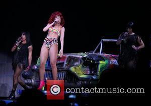 Rihanna performs live at the Mandalay Bay Events Center Las Vegas, Nevada - 02.07.11