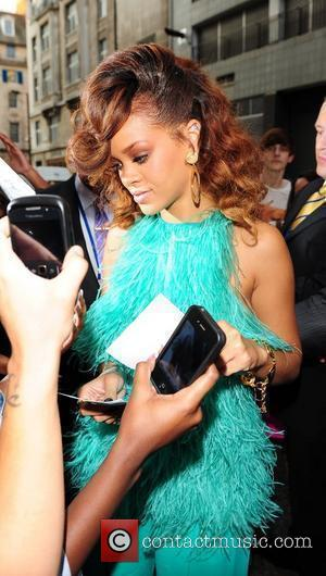 Rihanna outside the 'House of Fraser' store in central London after the launch of her new fragrance Reb'l Fleur. Rihanna...