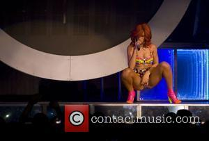 Rihanna performs during her 'Loud Tour' at the Nassau Coliseum New York City, USA - 19.07.11