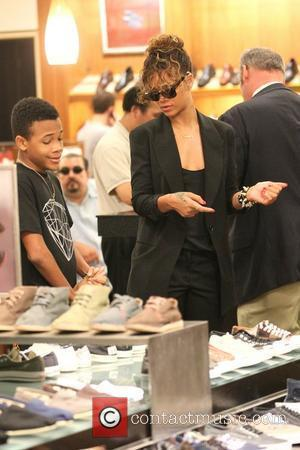 Rihanna takes her younger brother Rajad to Nordstrom at The Grove to shop for shoes West Hollywood, California - 03.09.11