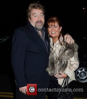 Brendan Grace and wife Eileen Grace outside the RTE studios for 'The Late Late Show' and a special tribute to...