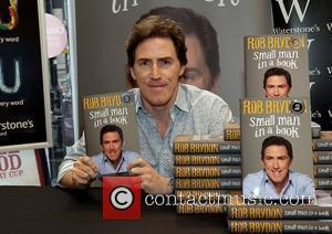 Rob Brydon  meets fans and signs copies of his new book 'Small Man in a Book' at Liverpool Waterstones...