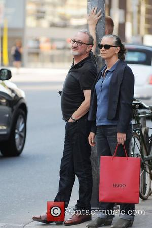 'Nightmare on Elm Street' star Robert Englund is seen crossing a road while out and about in Toronto Toronto, Canada...