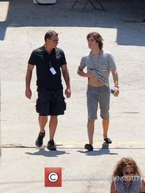 Diego Boneta  on set during the filming of the feature film 'Rock of Ages' starring Tom Cruise  Ft...