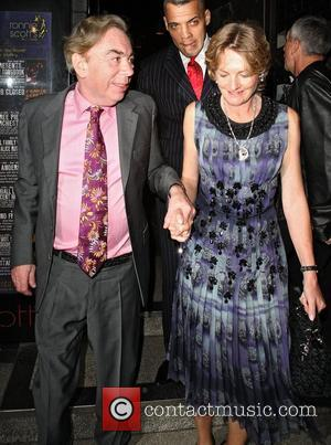 Andrew Lloyd Webber and Madeleine Lloyd Webber,  at a private event at Ronnie Scott's Jazz club in Soho. London,...