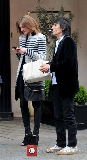 Ronnie Wood and Natalia Vodianova