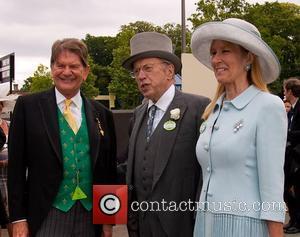 Sir David Frost and wife with Sir John Madejski Royal Ascot at Ascot Racecourse - Day 2  Berkshire, England...