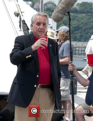 Bob Gunton filming on location for the television series 'Royal Pains' at the Intrepid Museum New York City, USA -...