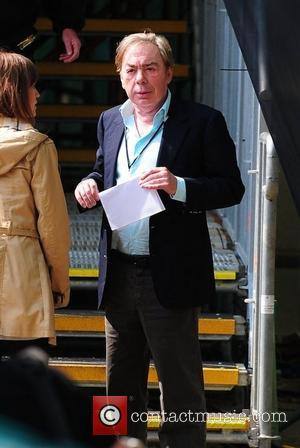 Andrew Lloyd Webber Celebrities seen filming during preparations for the Royal Wedding of Prince William and Kate Middleton in central...