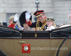 Prince Harry, after leaving the Abbey in a horse drawn carriage The Wedding of Prince William and Catherine Middleton -...
