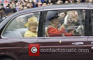 Queen Elizabeth II and Prince Philip, Duke of Edinburgh The Wedding of Prince William and Catherine Middleton - The Mall...