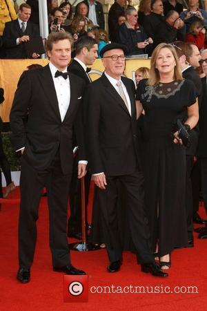 Geoffrey Rush and Colin Firth The 17th Annual Screen Actors Guild Awards (SAG Awards 2011) held at the Shrine Auditorium...