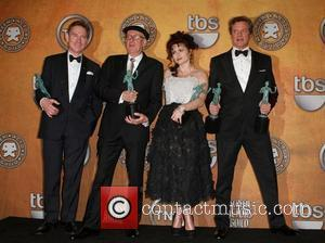 Anthony Andrews, Geoffrey Rush, Helena Bonham Carter and Colin Firth The 17th Annual Screen Actors Guild Awards (SAG Awards 2011)...