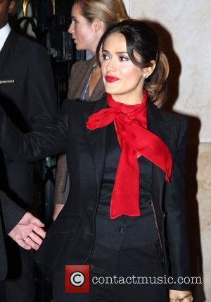 Salma Hayek Salma Hayek is seen departing from her hotel George V Paris, France - 20.11.11
