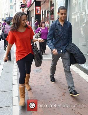 Samantha Mumba  spotted wearing her engagement ring (recently engaged to US boyfriend Torray Scales) while walking down Grafton Street...