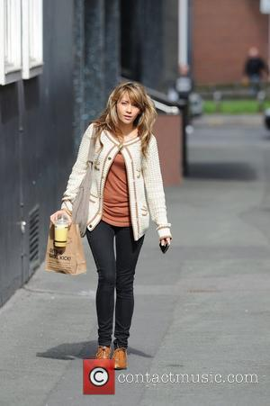 Samia Smith  returning to Granada Studios after picking up some lunch Manchester, England - 21.03.11