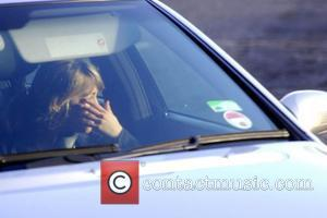 Samia Smith arriving at The Granada studios complex in a chauffeur driven car, looking visibly upset. Manchester, England - 31.01.11
