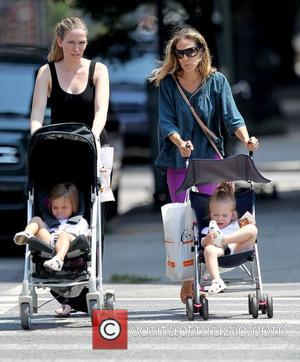 Tabitha Broderick, Sarah Jessica Parker and Marion Broderick Sarah Jessica Parker and a nanny pushing her twin daughters in strollers...