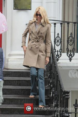 Claudia Schiffer after dropping her children off at school London, England - 08.08.11