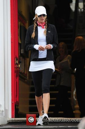 Elle Macpherson after dropping her children off at school London, England - 13.06.11