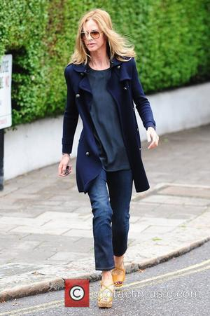 Trinny Woodall after dropping her children off at school London, England - 13.06.11