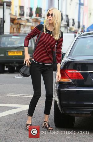 Claudia Schiffer after dropping her children off at school London, England - 21.06.11