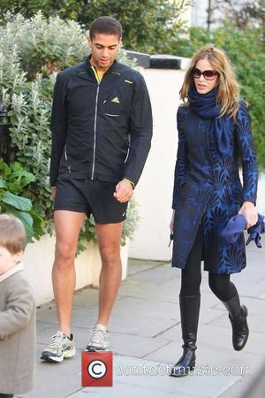 Trinny Woodall and a friend dropping her daughter off at school London, England - 23.03.11