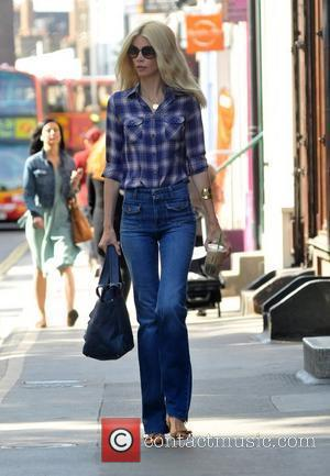 Claudia Schiffer after dropping her son Caspar off at school London, England - 24.06.11