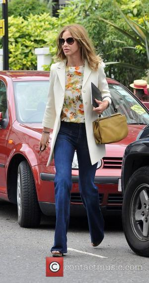 Trinny Woodall after dropping her daughter off at school London, England - 27.05.11