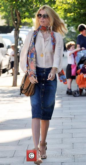 Claudia Schiffer  walking in London after dropping her children off at school London, England - 29.06.11