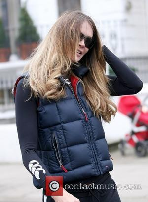 Elle Macpherson after dropping her son off at school London, England - 16.03.11