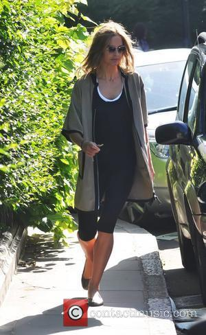 Trinny Woodall  after dropping her daughter off at school London, England - 25.05.11