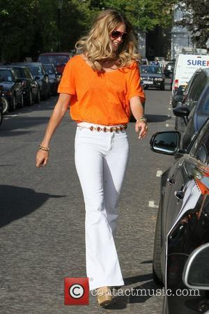 Elle Macpherson after dropping her children off at school London, England - 03.05.11