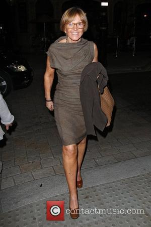Anne Robinson leaving Scotts restaurant in Mayfair London, England - 15.09.11