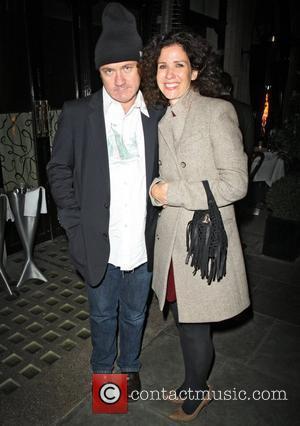 Damien Hirst leaving Scotts restaurant in Mayfair London, England - 06.09.11