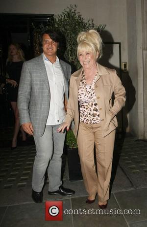Barbara Windsor and Scott Mitchell celebrities outside Scott's Restaurant in London London, England - 09.05.11