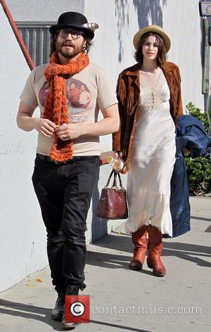 Sean Lennon and his girlfriend Charlotte Kemp  shopping at Urth Cafe and Bodhi Tree Bookstore on Melrose Avenue. Los...