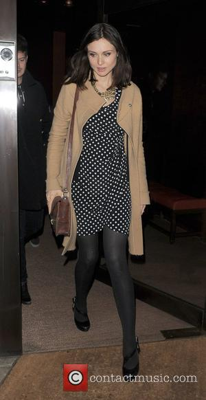 Sophie Ellis-Bextor leaving Senkai restaurant. London, England - 26.10.11
