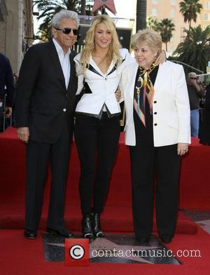 Shakira and Star On The Hollywood Walk Of Fame