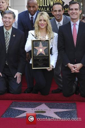Shakira, Star On The Hollywood Walk Of Fame and Walk Of Fame