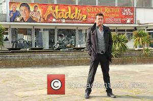 Shane Richie Eastenders star poses for pictures to promote 'Aladdin' pantomime at Cliffs Pavillion. Southend-On-Sea, England - 07.10.11