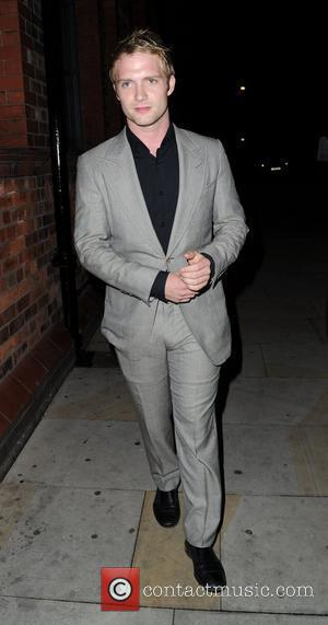 Chris Fountain  arrives for Jack P. Shepherd and Lauren Shippey's engagement party at Great John Street Hotel in Manchester...