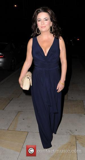 Debbie Rush  arrives for Jack P. Shepherd and Lauren Shippey's engagement party at Great John Street Hotel in Manchester...